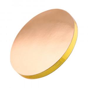 Подложка уплотненная круглая золотая 25 см