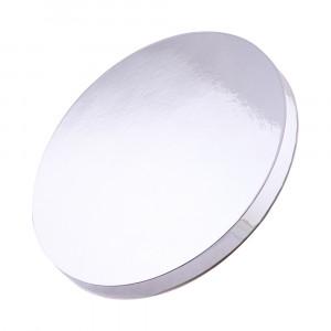 Подложка уплотненная круглая серебряная 25 см
