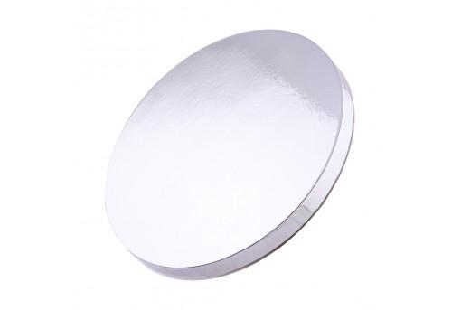 Подложка уплотненная круглая серебряная 35 см