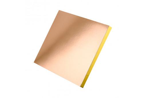 Подложка уплотненная прямоугольная золотая 30х40 см