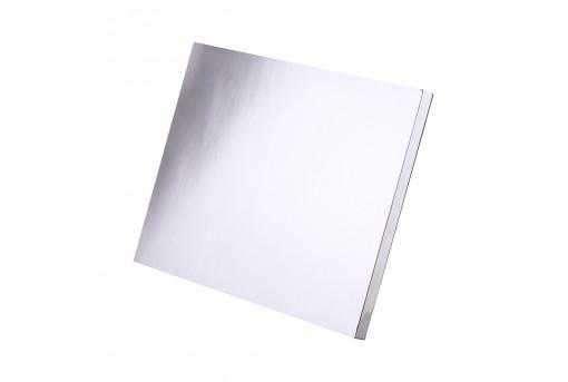 Подложка уплотненная прямоугольная серебряная 30х40 см