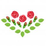Сахарные фигурки Чайные розы красные