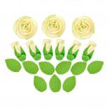 Сахарные фигурки Чайные розы кремовые