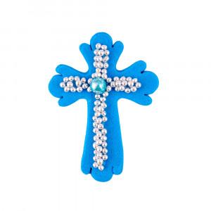 Сахарная фигурка Пасхальный крестик синий
