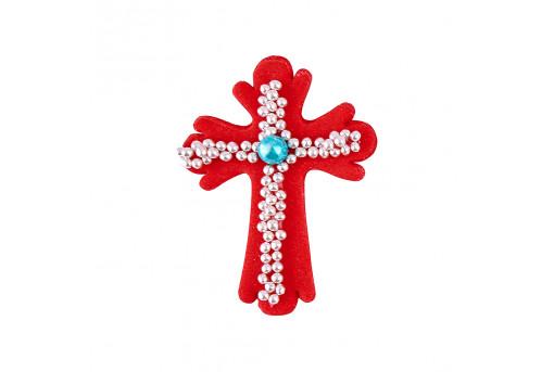 Сахарная фигурка Пасхальный крестик красный
