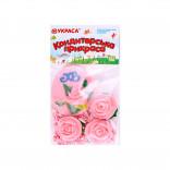 Сахарные фигурки Пасхальное яйцо розовое с розами и посыпкой
