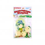 Сахарные фигурки Пасхальное яйцо салатовое с розами и посыпкой