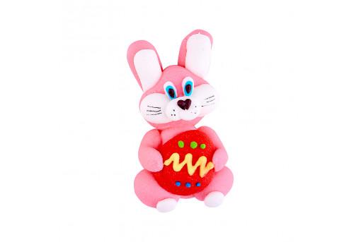 Сахарная фигурка Пасхальный кролик розовый