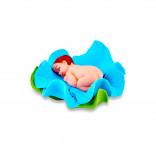 Сахарная фигурка Малыш в голубом цветочке