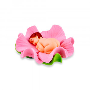 Сахарная фигурка Малыш в розовом цветочке