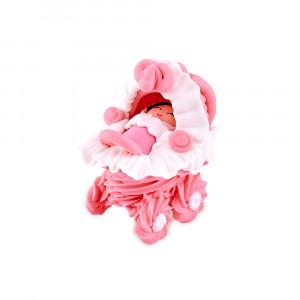 Сахарная фигурка Малыш в розовой коляске