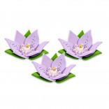 Сахарные фигурки Лилии фиолетовые