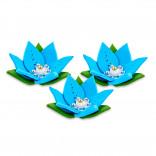 Сахарные фигурки Лилии голубые