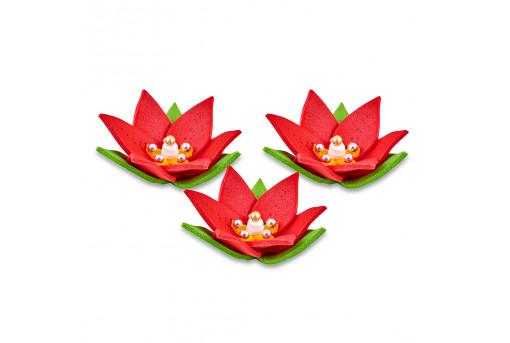 Сахарные фигурки Лилии красные
