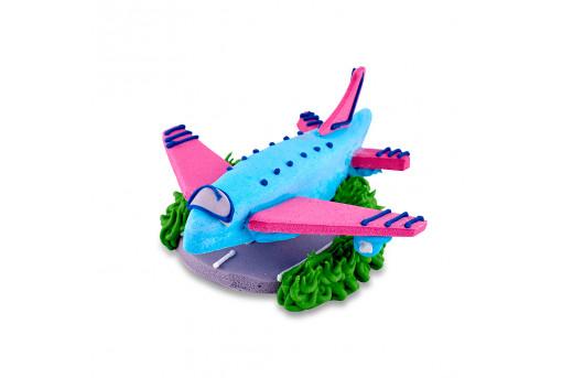 Сахарная фигурка Самолетик голубой