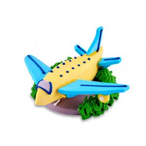 Сахарная фигурка Самолетик желтый