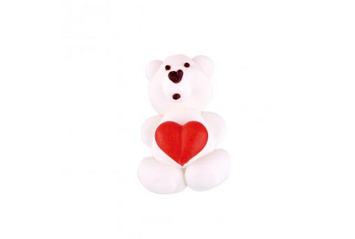 Сахарная фигурка Медвежонок с сердечком