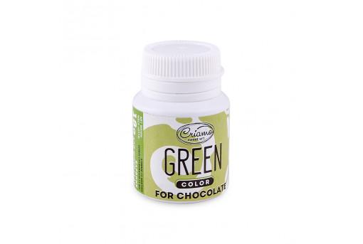Краситель для шоколада зеленый, 18 г
