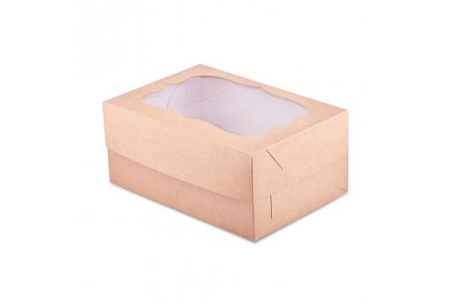 Коробка для кексов, маффинов, капкейков крафтовая на 4 шт.