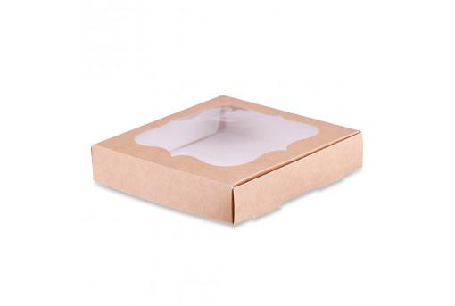 Коробка для пряников крафтовая 15х15 см