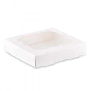 Коробка для пряников белая 15х15 см