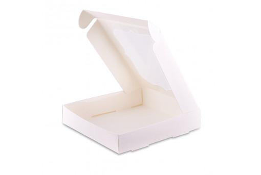 Коробка для пряников белая 23х23 см