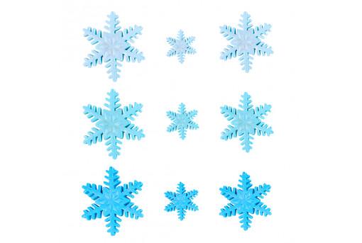 Сахарные фигурки Снежинки