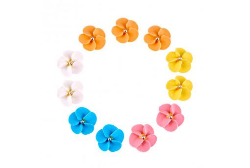 Сахарные фигурки Цветочки с росинкой