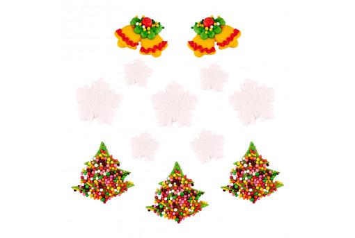 Сахарные фигурки Рождественские