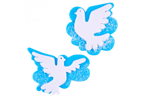 Сахарные фигурки Голуби на облаке