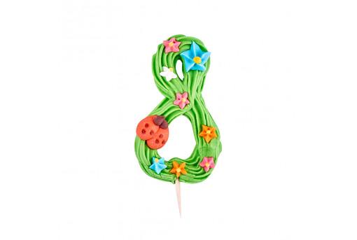 Сахарная фигурка Цифра детская 8