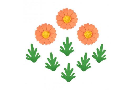 Сахарные фигурки Ромашки оранжевые