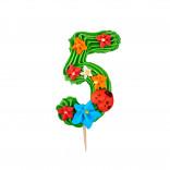 Сахарная фигурка Цифра детская 5