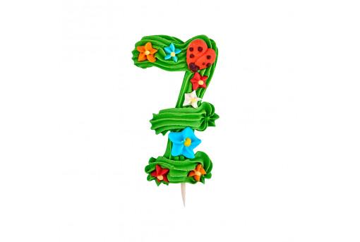Сахарная фигурка Цифра детская 7