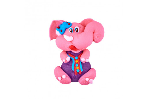 Сахарная фигурка Слоненок розовый