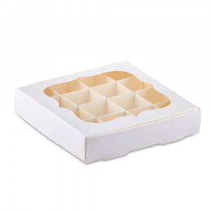 Коробка для конфет белая