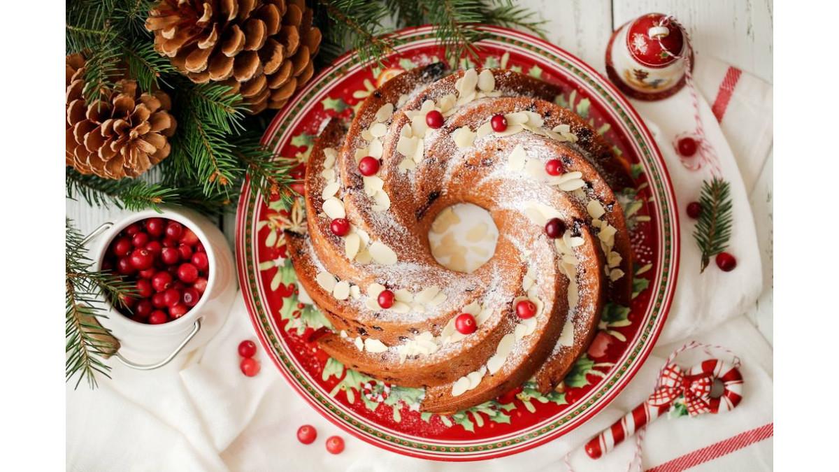 Новогодний кекс