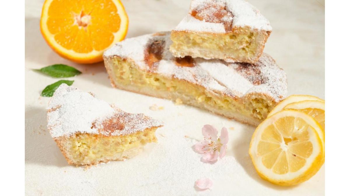Кокосово-лимонный пирог