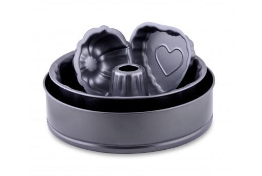 Набор металлических форм Кекс, круг и два мини-кекса
