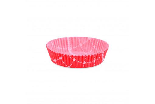 Форма бумажная для кексов низкая розовая