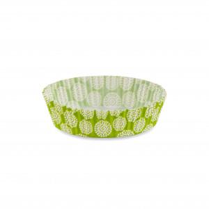 Форма бумажная для кексов низкая зеленая