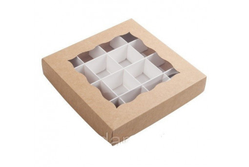 Коробка для конфет крафтовая