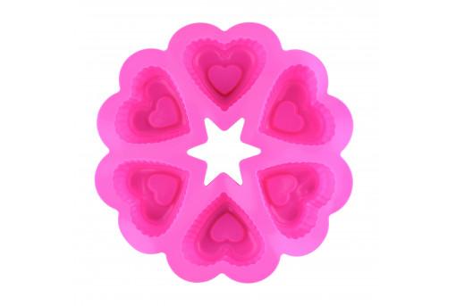 Форма силиконовая Сердечки (круглая)