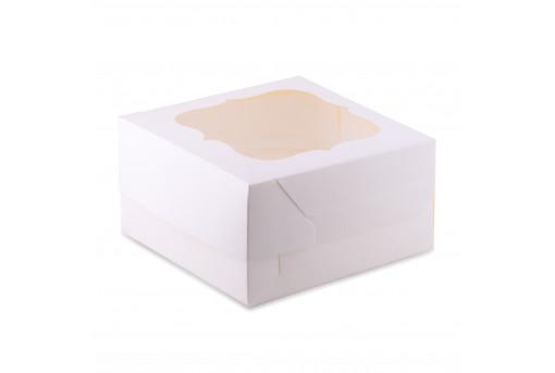 Коробка для кексов, маффинов, капкейков белая на 4 шт.